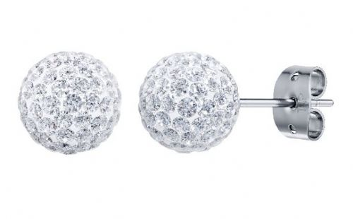 Tresor Paris 10mm White Large BonBon Stud Earrings
